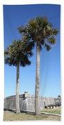 Garrita And Palms At The Fort Beach Towel