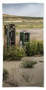 Gas Station Relics Beach Towel