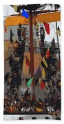 Gasparilla Ship Poster Beach Towel