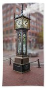 Gastown Steam Clock Beach Towel