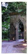 Gate At Cong Abbey Cong Ireland Beach Towel