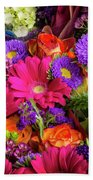Gathered Garden Flowers Beach Towel