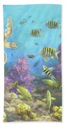 Gathering In The Reef Beach Towel