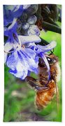 Gathering Rosemary Pollen Beach Towel