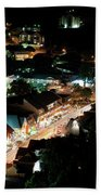 Gatlinburg, Tennessee At Night From The Space Needle Beach Towel