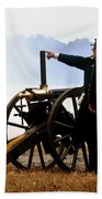 Gatling Gun On The Battle Field Beach Towel