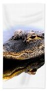Gator Profile Reflection Beach Towel
