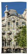 Casa Batillo - Gaudi Designed  - Barcelona Spain Beach Towel