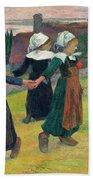 Gauguin, Breton Girls, 1888 Beach Towel