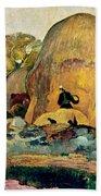 Gauguin: Haystacks, 1889 Beach Towel