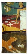 Gauguin: Pastoral, 19th C Beach Towel
