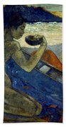 Gauguin: Pirogue, 19th C Beach Towel