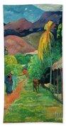 Gauguin Tahiti 19th Century Beach Sheet