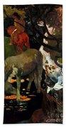 Gauguin: White Horse, 1898 Beach Sheet