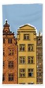 Gdansk Buildings Beach Towel