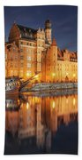 Gdansk By Night Beach Towel
