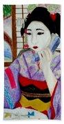 Geisha Girl Beach Towel
