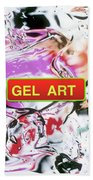 Gel Art #1 Beach Towel