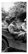 General Eisenhower In A Jeep Beach Towel