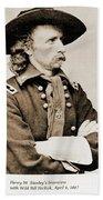 General George Custer Beach Towel