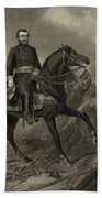 General Grant On Horseback  Beach Towel