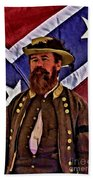 General Jeb Stuart Of Vmi Beach Towel