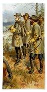 General Lee At The Battle Of Fredericksburg Beach Towel