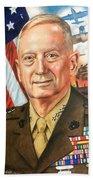 General Mattis Portrait Beach Sheet