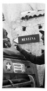 General Patton In Sicily Beach Towel by War Is Hell Store