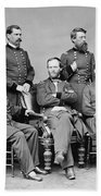 General Sherman And His Staff  Beach Towel by War Is Hell Store