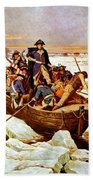 General Washington Crossing The Delaware River Beach Towel by War Is Hell Store