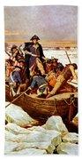 General Washington Crossing The Delaware River Beach Towel