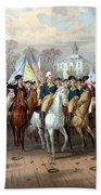 General Washington Enters New York Beach Towel