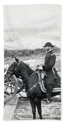 General William T Sherman On Horseback - C 1864 Beach Towel