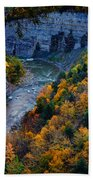 Genesee River Gorge II Beach Towel