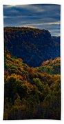 Genesee River Gorge Beach Towel