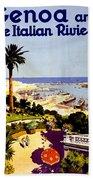 Genoa, Italian Riviera, Coast Beach Sheet