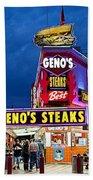 Geno's Steaks South Philly Beach Towel