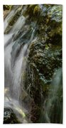 Gentle Spring Fed Waterfall Beach Towel