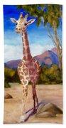 Geoffrey Giraffe Beach Towel
