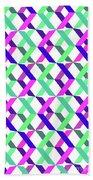 Geometric Crosses Beach Towel