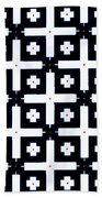 Geometric In Black And White Beach Towel