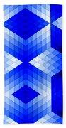 Geometric In Blue Beach Towel