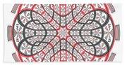 Geometric Mandala Beach Towel