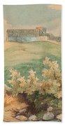Georg Geyer 1823   Wien   1912   Burg Brandzoll In Tirol Beach Towel