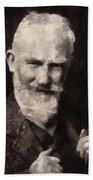 George Bernard Shaw Author Beach Towel