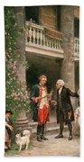 George Washington At Bartrams Garden Beach Towel