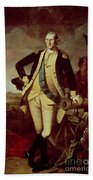 George Washington At Princeton Beach Towel by Charles Willson Peale