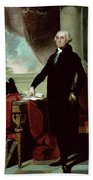 George Washington Beach Towel by Gilbert Stuart