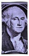 George Washington In Light Purple Beach Towel